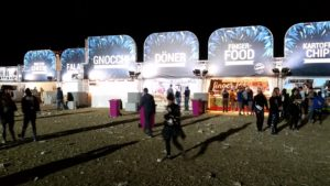 Essenstände Southside vor Konzert Bühnen